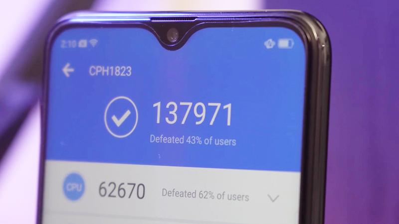 Đánh giá cấu hình điện thoại OPPO F9 6GB