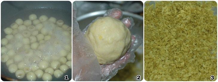 Xôi cốm hạt sen dừa