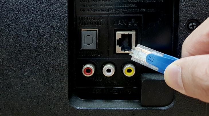 Kết nối mạng có dây trên tivi Sony