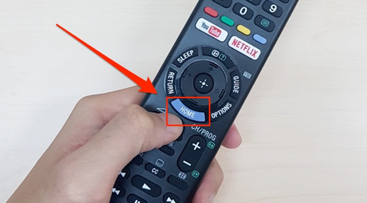 Remote trên Smart tivi Sony 2018