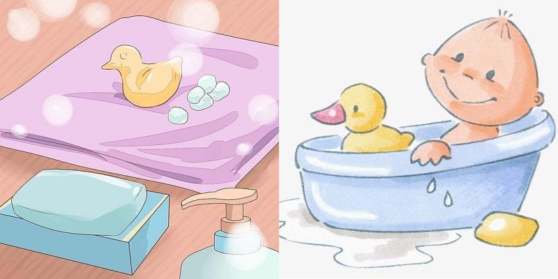 Trước khi tắm bé, bạn cần chuẩn bị đầy đủ dụng cụ cần thiết.