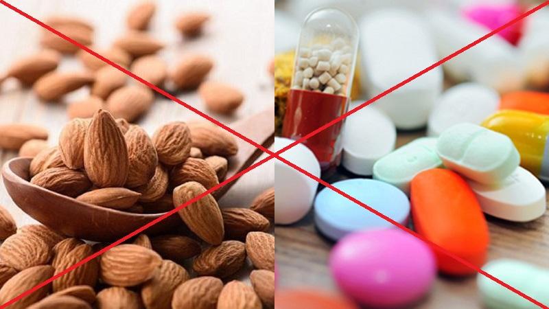 Hạnh nhân phản ứng với nhiều loại thuốc
