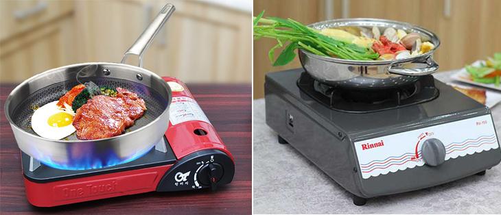 Bếp gas mini hoặc bếp gas đơn là lựa chọn hợp lý cho sinh viên