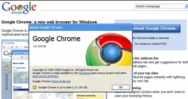 Phiên bản Google Chrome ổn định đầu tiên sau khi thoát xác Beta