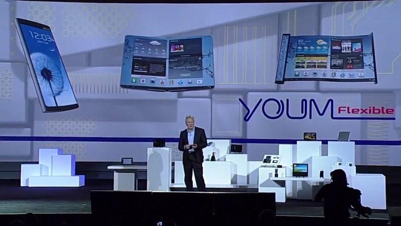Smartphone màn hình gập của Samsung sẽ dùng thiết kế của concept 2013