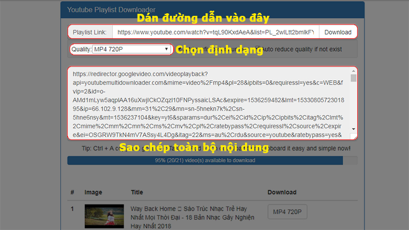 tải video youtube