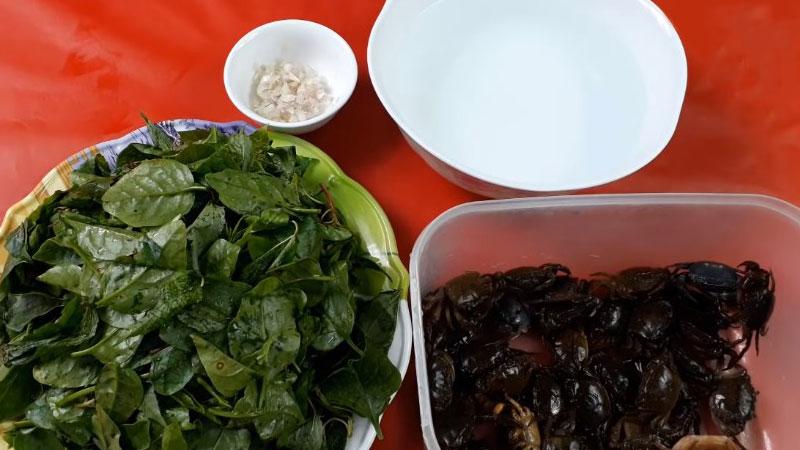 Nguyên liệu nấu canh cua rau đay