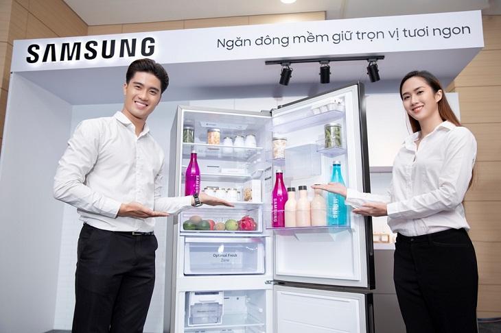 dung tích tủ lạnh ngăn đá dưới samsung lớn