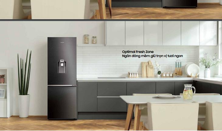 công nghệ ngăn đông mềm Optimal Fresh Zone tủ lạnh samsung
