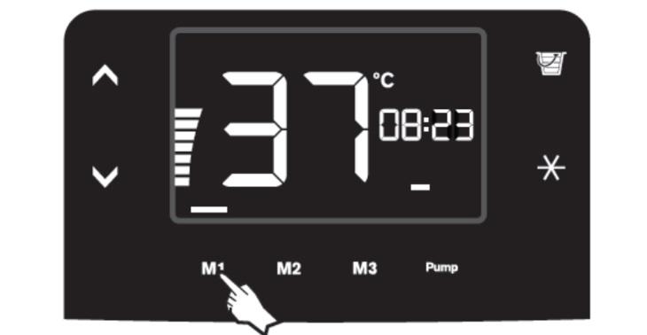 Cài đặt bộ nhớ 3 chế độ nhiệt độ ưa thích