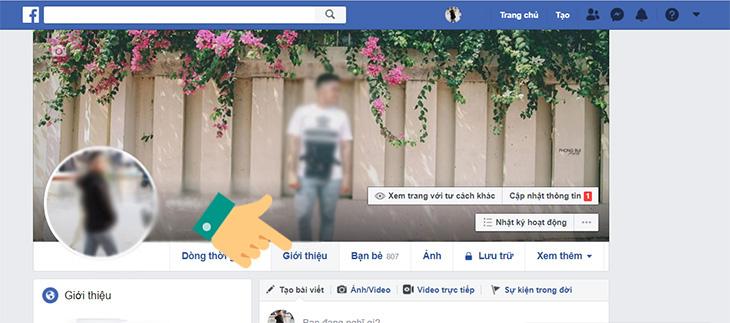 Các bước ẩn ngày sinh trên Facebook
