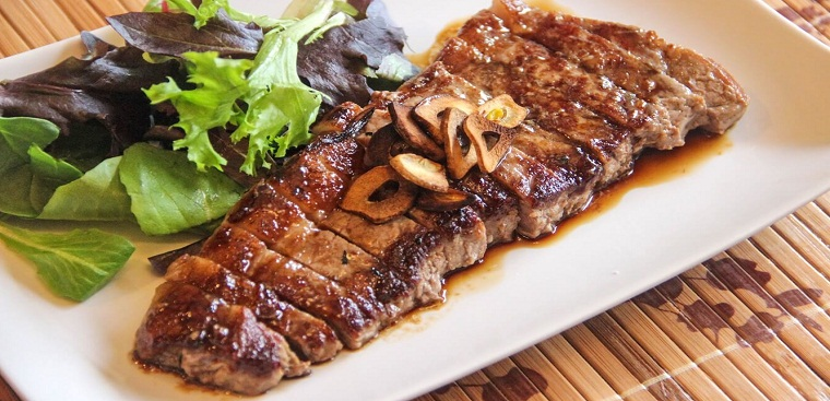 thịt bò nướng tảng - Giaruou.vn