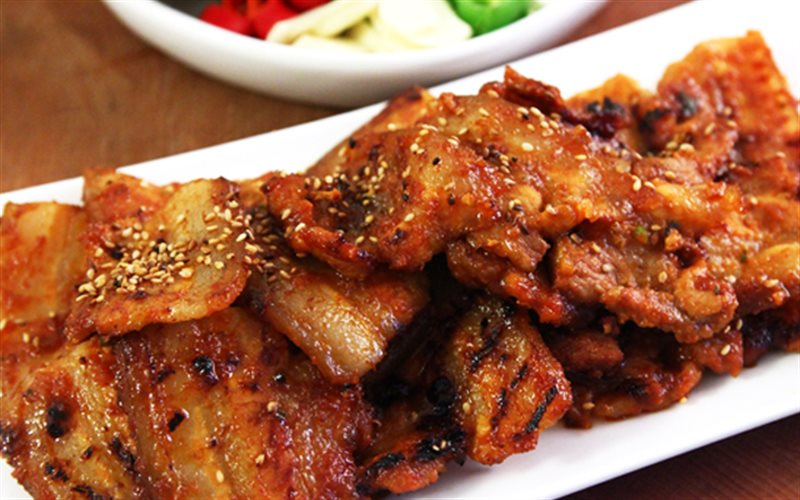 Thịt ba chỉ nướng kiểu Hàn hấp dẫn