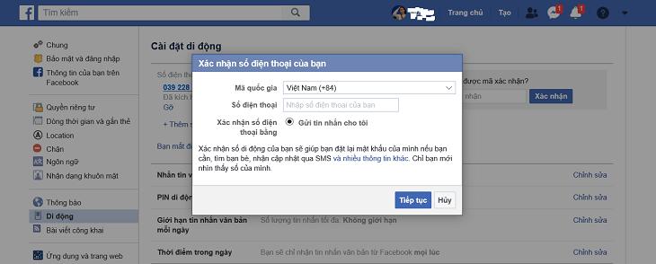 Facebook và Google sẽ gửi mã OTP về số điện thoại mới cập nhật, người dùng chỉ cần xác nhận theo mã đã nhận để hoàn thành việc cập nhật