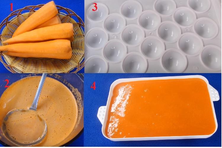 Làm nhân trứng muối bằng cà rốt