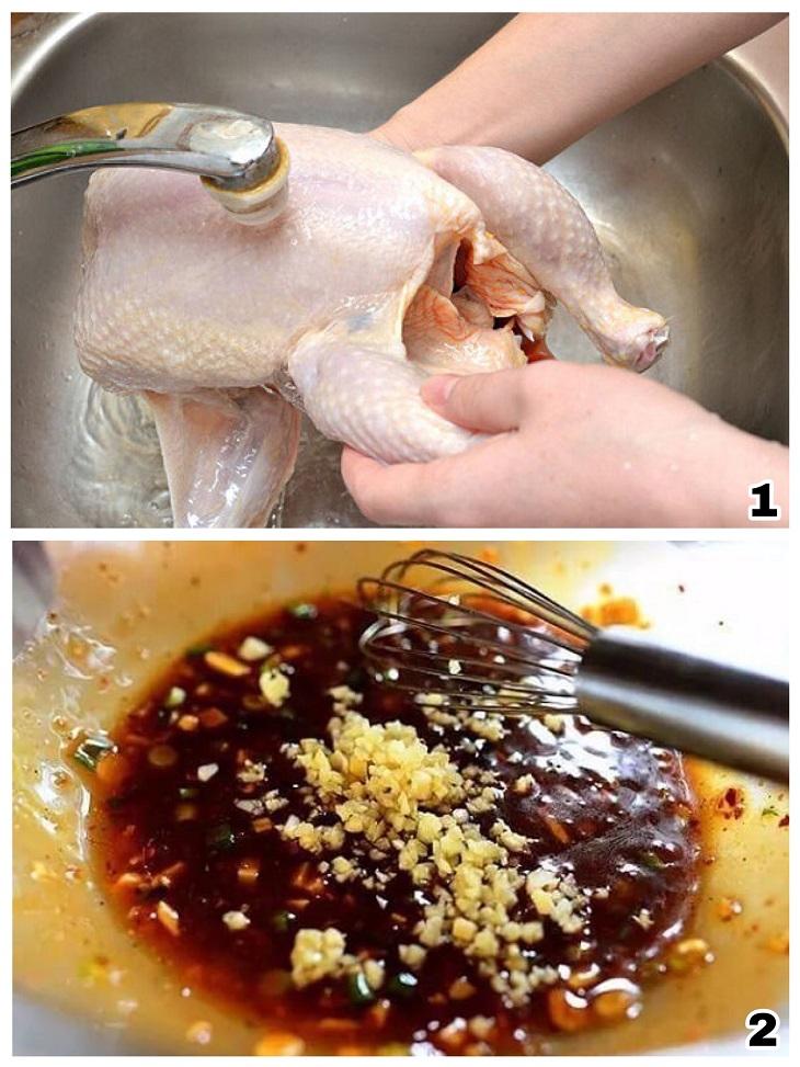 Cách nướng gà mật ong bằng lò vi sóng: