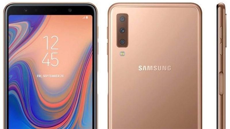 Galaxy A7 2018 trình làng: Smartphone đầu tiên của Samsung có 3 camera mặt sau