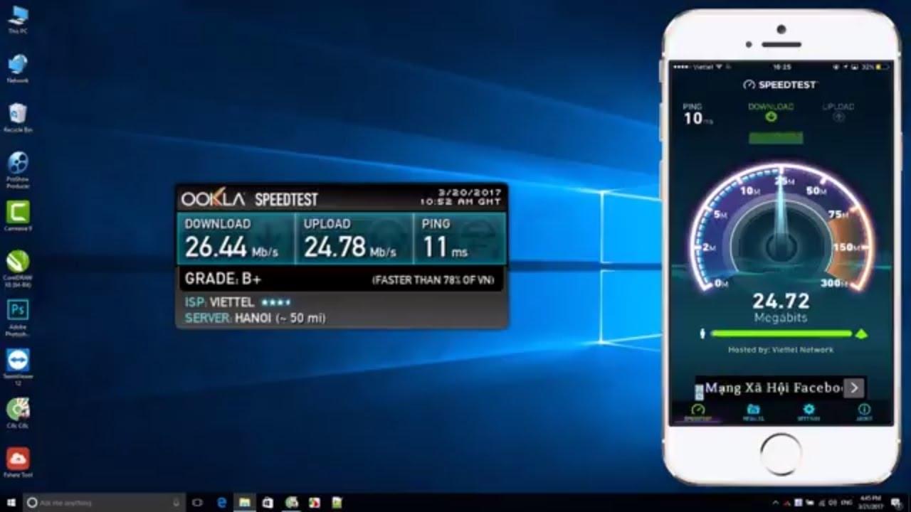 Ứng dụng SpeedTest trên smartphone
