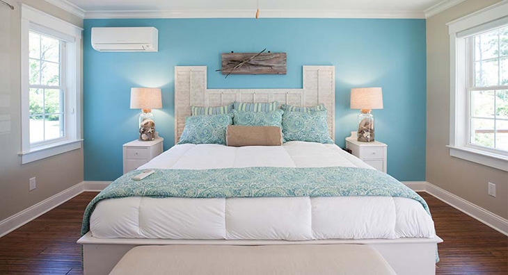 Lắp đặt điều hòa bên cạnh giường ngủ