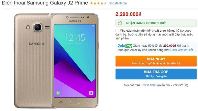 Có dưới 5 triệu, thích Samsung, chọn máy nào?