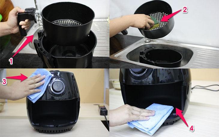 Rửa sạch dầu mỡ