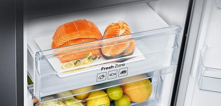 Ngăn cấp đông mềm Optimal Fresh Zone trên tủ lạnh Samsung