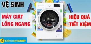 6 bước vệ sinh máy giặt cửa trước đơn giản ngay tại nhà