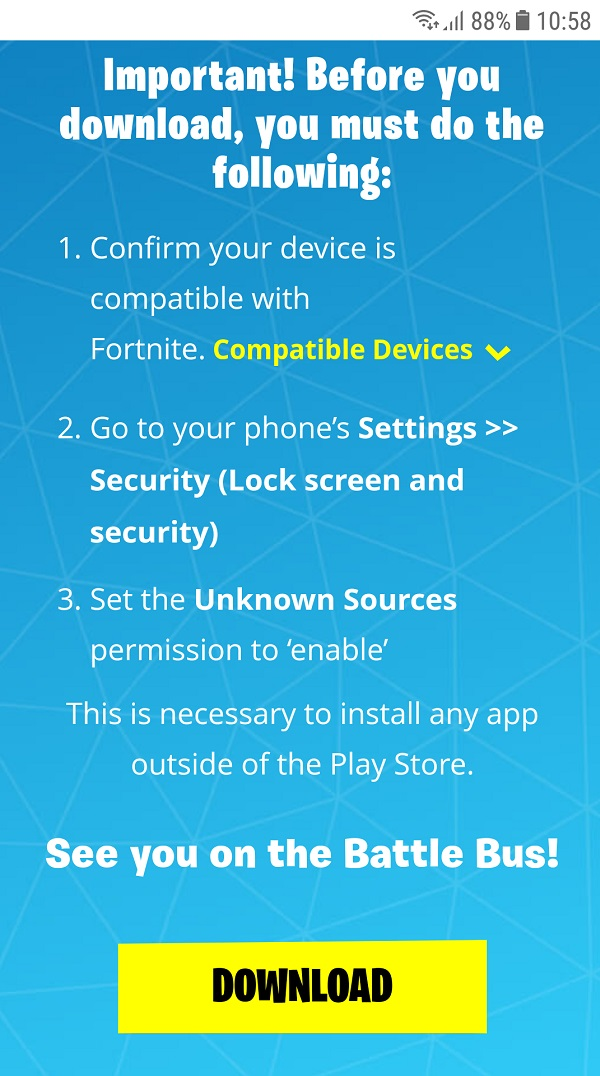 Bấm vào khung Download để tải game