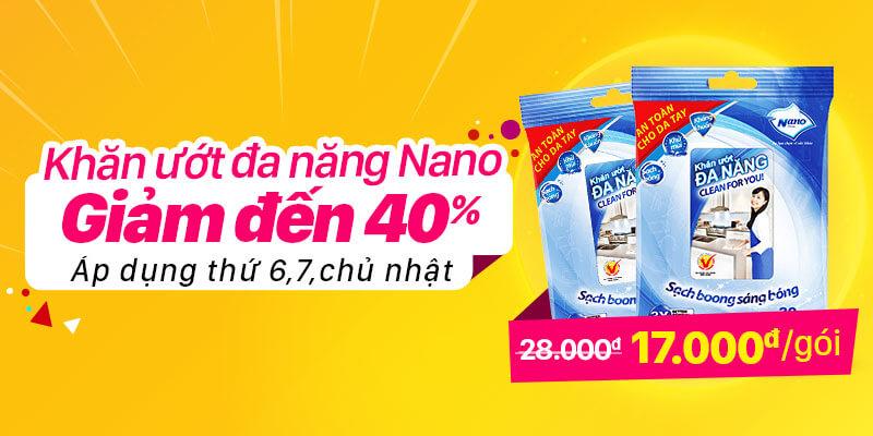 Khăn ướt đa năng Nano giảm giá sốc chỉ còn 17k