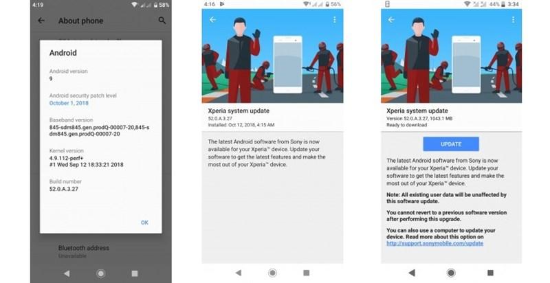 Sony Xperia XZ2 được lên đời Android 9.0 Pie - ảnh 2