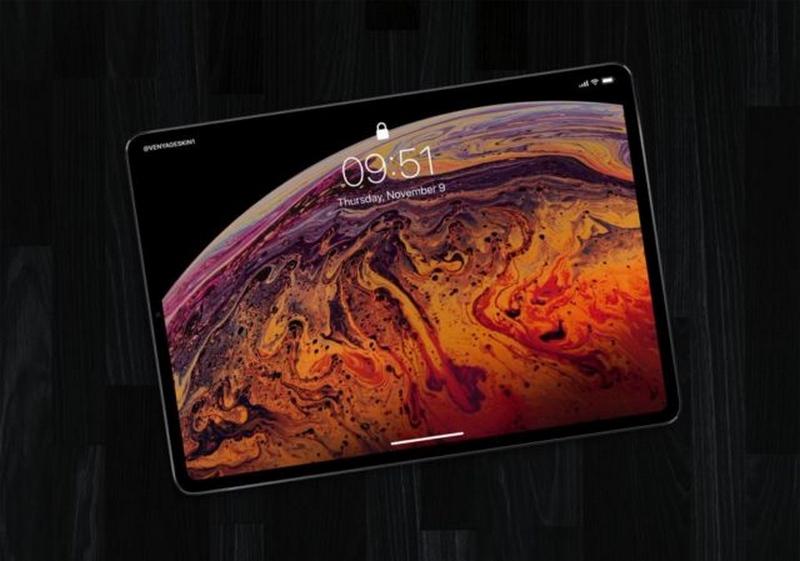 """iPad Pro 2018 lộ ảnh render mới với màn hình tràn cạnh, không """"tai thỏ"""""""