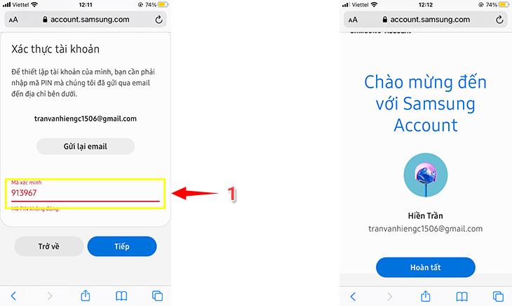 cách tạo tài khoản Samsung Account trên Smart Tivi Samsung 4
