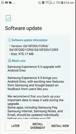 Samsung Galaxy J7 Prime tại Ấn Độ được cập nhật Android 8.0 Oreo
