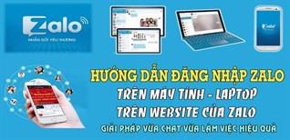 Hướng dẫn 3 cách đăng nhập Zalo trên trình duyệt website