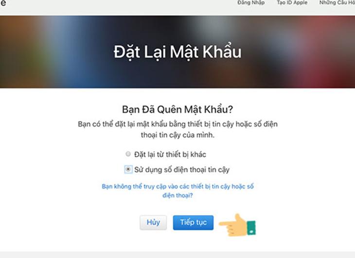 Khôi phục tài khoản iCloud qua máy tính