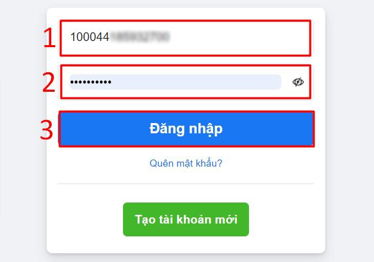 Dùng địa chỉ Facebook đó thay thế cho cho email hay tên đăng nhập cũ để đăng nhập vào tài khoản