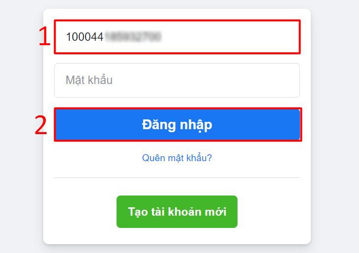 Dùng địa chỉ Facebook đó thay thế cho cho email hay tên đăng nhập cũ. Sau đó, nhấn nút Đăng nhập