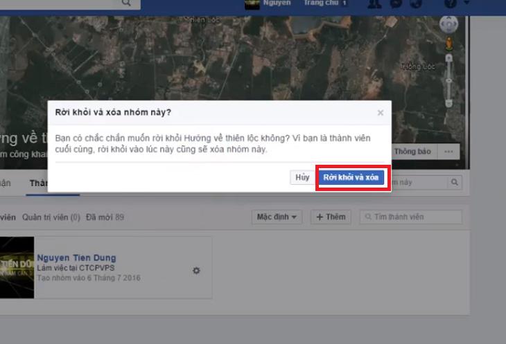 xóa nhóm facebook trên ipad