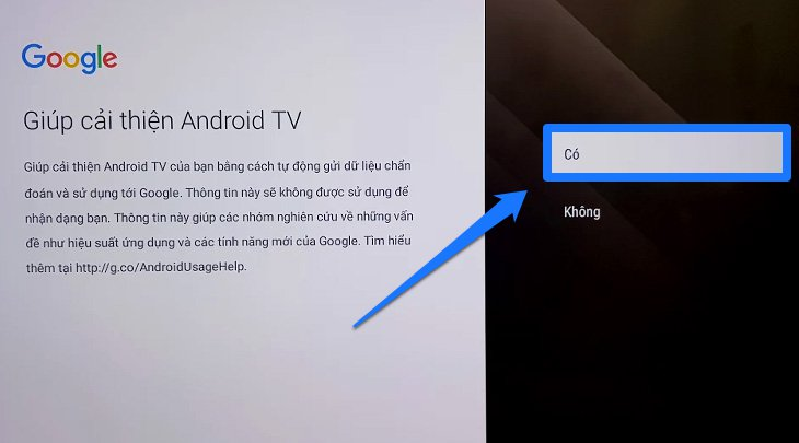 Các bước thiết lập đầu tiên trên Android tivi Sony 2018