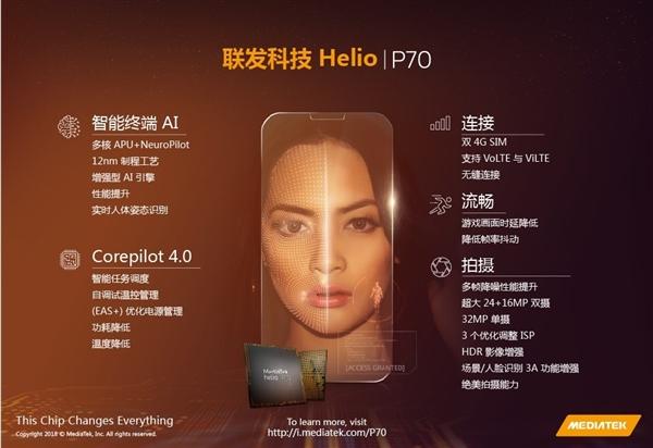 MediaTek Helio P70 ra mắt với hiệu suất tốt hơn