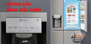 Cách sử dụng bảng điều khiển tủ lạnh LG Inverter GR-X247JS, GR-P247JS