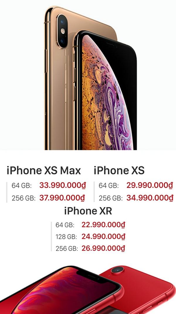 Đặt trước iPhone XR, iPhone Xs, iPhone Xs Max nhận quà khủng