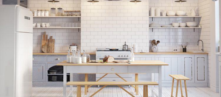 Thiết kế tủ bếp mở mang tính thẩm mỹ cao