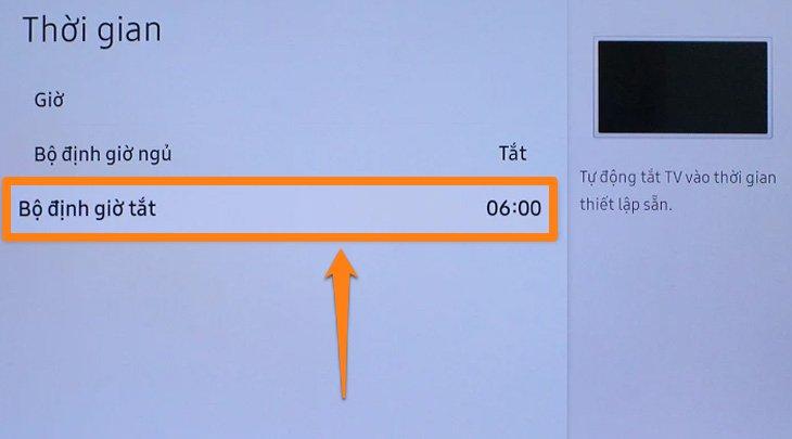Bảng thông tin lịch tắt của tivi
