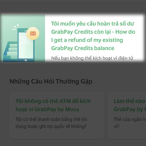 Hướng dẫn lấy lại tiền từ tài khoản GrabPay về thẻ ngân hàng của bạn - ảnh 3