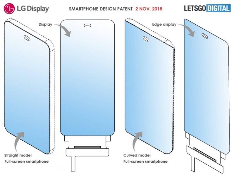 Xuất hiện bằng sáng chế smartphone LG với màn hình không viền, 4 camera mặt sau