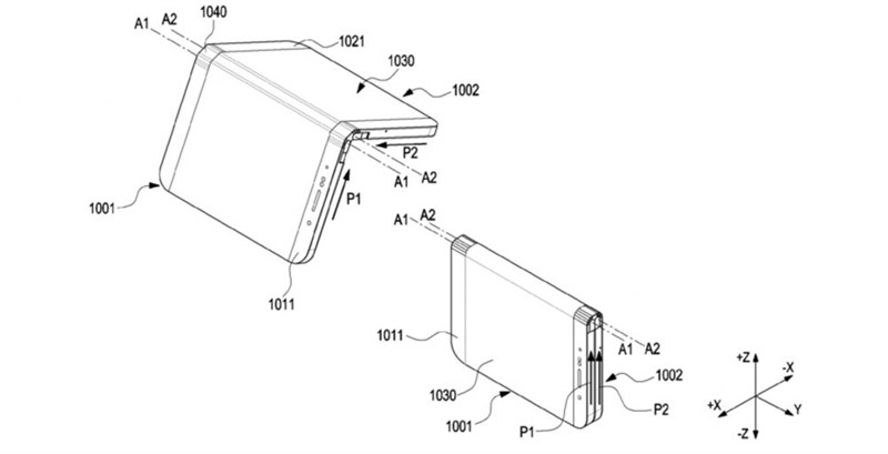 Thêm 1 bằng sáng chế smartphone Samsung màn hình gập xuất hiện - ảnh 2