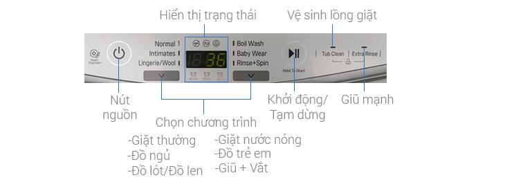 Bảng điều khiển máy giặt LG T2735NWLV