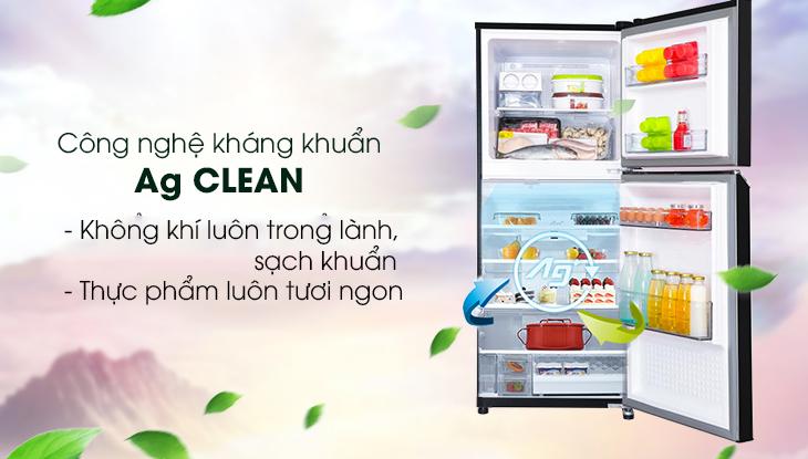 Công nghệ kháng khuẩn khử mùi Ag Clean giúp không khí tủ luôn trong lành, sạch khuẩn