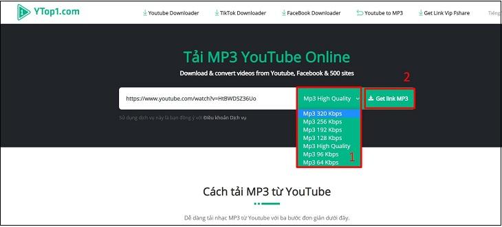 Chọn định dạng MP3
